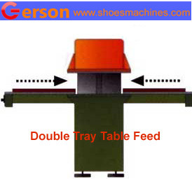 sliding double tray table die cutting machine