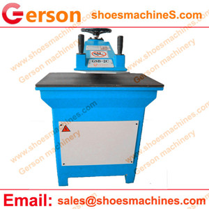 Neoprene bag hydraulic swing arm cutting machine