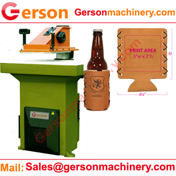 bottle can leather koozie holder cutting machine