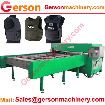 soft body armour hydraulic die cutting machine